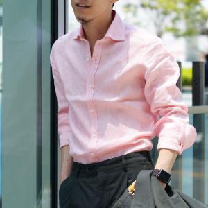 Giannetto【ジャンネット】リネンシャツ VINCIFIT AG85137V81 001 ピンク|cinqessentiel|07