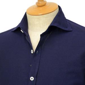 Giannetto【ジャンネット】オックスフォードシャツ VINCIFIT AG14437V81 008 コットン ネイビー cinqessentiel