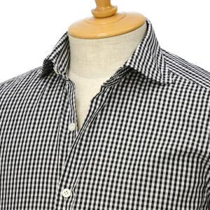 Giannetto【ジャンネット】ギンガムチェックシャツ VINCIFIT 92031270370V81 007 コットン ブラック cinqessentiel