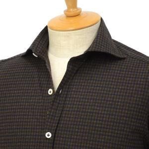 Giannetto【ジャンネット】ジャージーチェックシャツ VINCIFIT 92031186370V81 004 コットン カーキ cinqessentiel