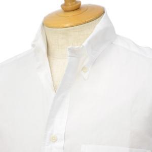 GITMAN VINTAGE【ギットマン ヴィンテージ】ゼファーオックスフォード半袖シャツ U405-10 コットン ホワイト|cinqessentiel