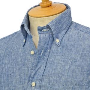 GITMAN VINTAGE【ギットマン ヴィンテージ】リネンシャンブレーシャツ U408-41 リネン ブルー cinqessentiel