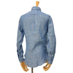 GITMAN VINTAGE【ギットマン ヴィンテージ】リネンシャンブレーシャツ U408-41 リネン ブルー cinqessentiel 06