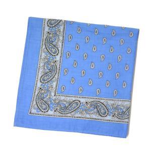 GLARNER TUECHLI【グラーナートゥエッチリ】バンダナ・ハンカチ BANDANA PAISLEY BLUE ブルー|cinqessentiel