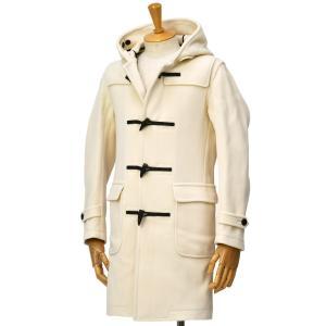 GRENFELL【グレンフェル】ヘリンボーンダッフルコート EST 30 WHITE ウール ホワイト|cinqessentiel
