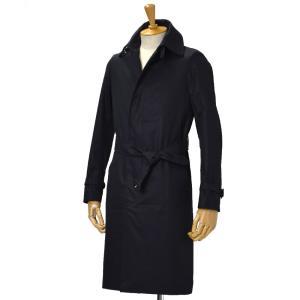 GRENFELL【グレンフェル】ベルテッドステンカラーコート Kilburn Grenfell cloth Navy コットン ネイビー|cinqessentiel