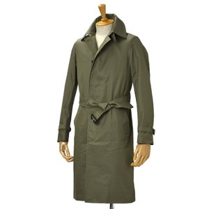GRENFELL【グレンフェル】ベルテッドステンカラーコート Kilburn Grenfell cloth Olive コットン オリーブ|cinqessentiel