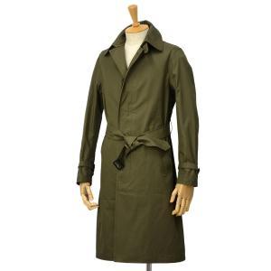 GRENFELL【グレンフェル】ステンカラーコート Kilburn Grenfell cloth Green コットン グリーン|cinqessentiel
