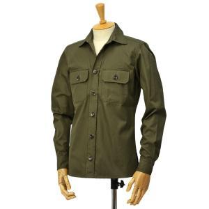 GRENFELL【グレンフェル】ミリタリーシャツ Overshirts Grenfell cloth Green コットン グリーン|cinqessentiel