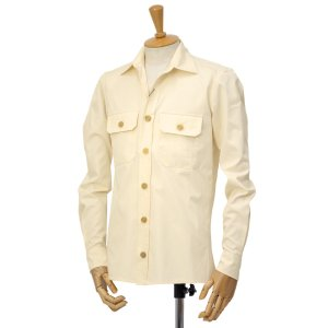 GRENFELL【グレンフェル】ミリタリーシャツ Overshirts Grenfell cloth Offwhite コットン オフホワイト|cinqessentiel