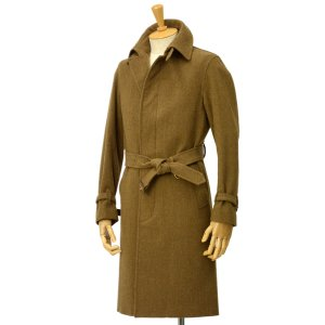 GRENFELL【グレンフェル】ステンカラーコート Kilburn WWII Kahki ウール オリーブ|cinqessentiel