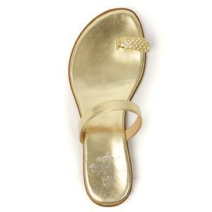 il Sandalo【イル サンダロ】サムループサンダル 170107 GOLD/CRYSTALL STRASS  LAMINATE platin GOLD ゴールド|cinqessentiel|04