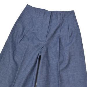 INCOTEX【インコテックス】2プリーツワイドパンツ 171554/D6168 820 cotton polyurethane BLUE(ブルー)|cinqessentiel