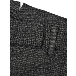 INCOTEX【インコテックス】フレアクロップドパンツ PAMELA J1204 930 ウール チャコールグレー|cinqessentiel|05