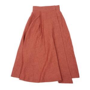 INCOTEX【インコテックス】ラップスカート ILARIA J7038 210 リネン レッド|cinqessentiel