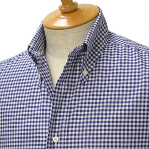 INDIVIDUALIZED SHIRTS【インディビジュアライズドシャツ】ボタンダウンシャツ SLIM FIT スリムフィット ギンガムチェック ネイビー cinqessentiel