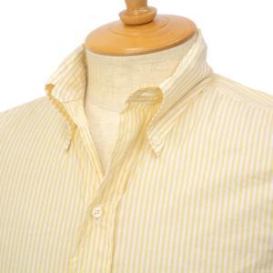 【ご予約】INDIVIDUALIZED SHIRTS×RESOLUTE(林氏) Special Model(Front 6 Button) ボタンダウンシャツ スタンダードフィット/フレンチストライプ イエロー|cinqessentiel