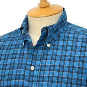 【ご予約】INDIVIDUALIZED SHIRTS×RESOLUTE(林 芳亨氏) Special Model(Front 6 Button) ボタンダウンシャツ (スタンダードフィット/ブルーチェック )|cinqessentiel