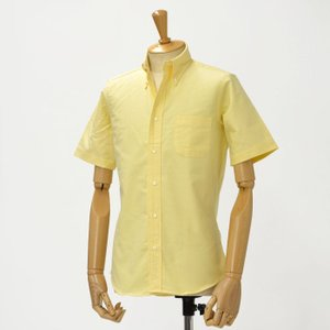 INDIVIDUALIZED SHIRTS【インディビジュアライズドシャツ】オックスフォードボタンダウン半袖シャツ STANDARD FIT CAMBRIDGE OX cotton YELLOW(イエロー)|cinqessentiel