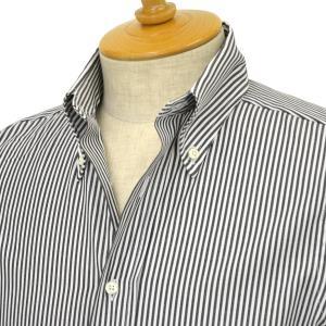 INDIVIDUALIZED SHIRTS【インディビジュアライズドシャツ】ボタンダウンシャツ slim fit OX stripe (スリムフィット オックスストライプ)コットン ブラック cinqessentiel