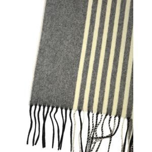 Johnstons【ジョンストンズ】大判カシミヤストール・マフラー WA000056 AU1796 Vertical Stripe ストライプ グレー|cinqessentiel|03