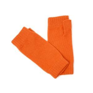 Johnstons【ジョンストンズ】ニットグローブ HAD03215 SG4223 Lava カシミヤ オレンジ|cinqessentiel