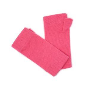 Johnstons【ジョンストンズ】ニットグローブ HAD03215 SE4605 Hot Pink カシミヤ ピンク|cinqessentiel