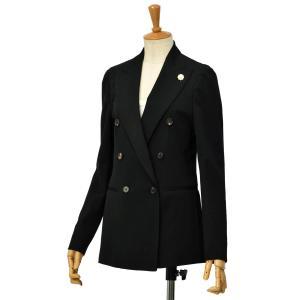 LARDINI【ラルディーニ】ダブルブレストジャケット NIL IM55035 999 ウール ナイロン ブラック|cinqessentiel