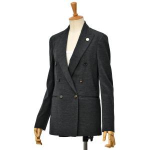 LARDINI【ラルディーニ】ダブルブレストジャケット NIL IM55035 930 ウール ナイロン グレー|cinqessentiel
