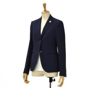 LARDINI【ラルディーニ】ヘリンボーンテーラードジャケット LAVANDA/AQ/EARP46590 wool NAVY(ネイビー) cinqessentiel