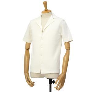 LARDINI【ラルディーニ】ミラノリブ開襟シャツ JPLCMC01/EG52019/100 コットン ホワイト|cinqessentiel