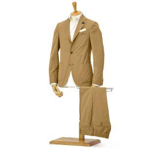LARDINI【ラルディーニ】シングルスーツ JP087AQ/EGC52416/2 コットンストレッチ ベージュ|cinqessentiel