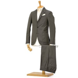 LARDINI【ラルディーニ】シングルスーツ JP087AQ/EGC52418/2 コットンウール ソラーロ ダークグリーン|cinqessentiel