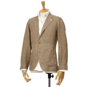 LARDINI【ラルディーニ】リネンシャツジャケット JPAMAJ/EGC1006/200 リネン ライトブラウン|cinqessentiel