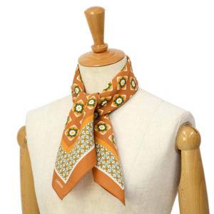 LARDINI【ラルディーニ】スカーフ JPFOU7/EG52173/610 シルク 小紋柄 オレンジ|cinqessentiel