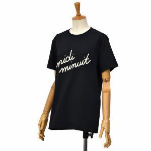 Maison Labiche【メゾン ラビッシュ】半袖クルーネックカットソー MIDI MINUIT BLACK コットン ブラック|cinqessentiel