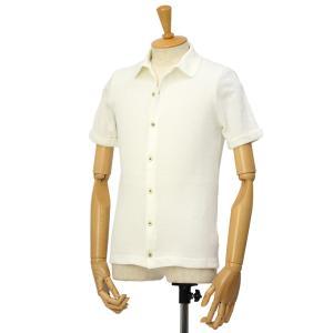 McLauren【マックローレン】パイル半袖シャツ DESKU 006 コットンレーヨン エクリュ|cinqessentiel