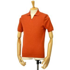 McLauren【マックローレン】スキッパーポロ GERBY 003 リネンコットン オレンジ cinqessentiel