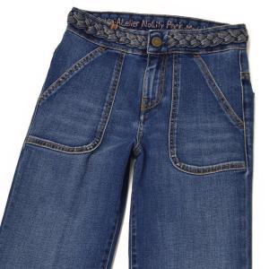 Notify【ノティファイ】フレアデニム WTD22291 DAHLIA cotton strech MEDIUM BLUE(ミディアムブルー)|cinqessentiel