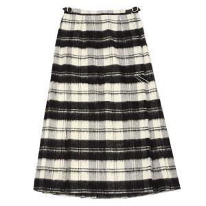 O'NEIL OF DUBLIN【オニールオブダブリン】バックプリーツスカート EASY LONG KILT 5083 BEWB ウール アクリル ホワイト ブラック|cinqessentiel