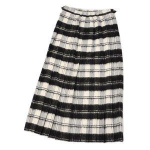 O'NEIL OF DUBLIN【オニールオブダブリン】バックプリーツスカート EASY LONG KILT 5083 BEWB ウール アクリル ホワイト ブラック|cinqessentiel|03