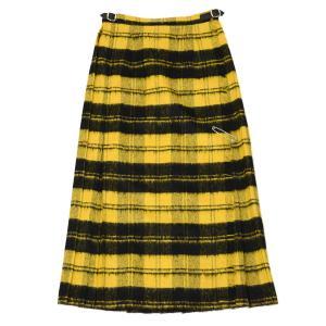 O'NEIL OF DUBLIN【オニールオブダブリン】バックプリーツスカート EASY LONG KILT 5083 BALBOWB ウール アクリル イエロー ブラック|cinqessentiel