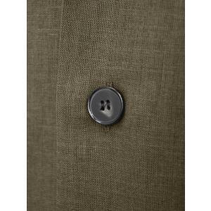 ORIAN【オリアン】ベルテッドサファリシャツジャケット LARMY U323 75 リネンコットン オリーブ|cinqessentiel|03