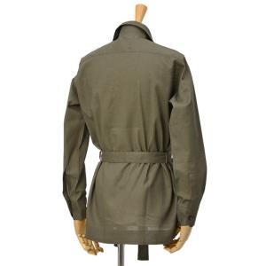 ORIAN【オリアン】ベルテッドサファリシャツジャケット LARMY U323 75 リネンコットン オリーブ|cinqessentiel|05