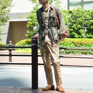 ORIAN【オリアン】ベルテッドサファリシャツジャケット LARMY U323 75 リネンコットン オリーブ|cinqessentiel|08