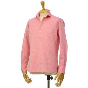 ORIAN【オリアン】スキッパーシャツ KH30F 02U323 40 コットンリネン レッド|cinqessentiel