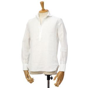 ORIAN【オリアン】スキッパーシャツ KH30F 02U323 10 コットンリネン ホワイト|cinqessentiel