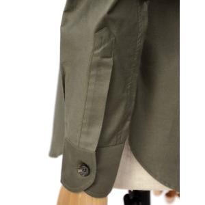 ORIAN【オリアン】サファリシャツ JARMY BE06 75 コットン オリーブ cinqessentiel 03