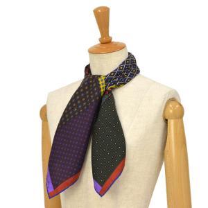 Pierre Louis Mascia【ピエールルイマシア】スカーフ  ALOE65 44068 シルク ボルドー|cinqessentiel