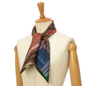 Pierre Louis Mascia【ピエールルイマシア】スカーフ ALOEUW67 45589 シルク ペイズリー|cinqessentiel